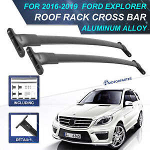 Roof Rack Cross Bar For 15 17 Ford Explorer Luggage Carrier Removable Waterproof