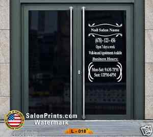 Business Hours Custom Lettering Sign Vinyl Sticker Window Door 22x40 L 018