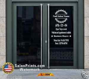 Business Hours Custom Lettering Sign Vinyl Sticker Window Door 22x40 L 008