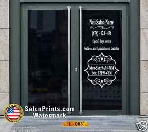 Business Hours Custom Lettering Sign Vinyl Sticker Window Door 22x40 L 003