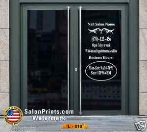 Business Hours Custom Lettering Sign Vinyl Sticker Window Door 22x40 L 010