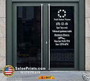 Business Hours Custom Lettering Sign Vinyl Sticker Window Door 22x40 L 017