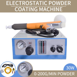 110v Electrostatic Powder Coating Machine Spray Gun Paint Spraying System New