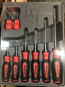 Snap On Sgdx80br 8 Pc Soft Grip Combination Screwdriver Set