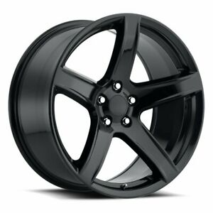 20 Staggered Hellcat 5 Hr5 Srt Style Gloss Black Challenger Charger Wheels Rims