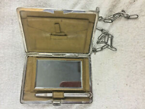 Antique Vintage Signed Ejb Co Sterling Silver Ladies Compact No Mono
