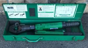 Greenlee 1990 Dieless Hydraulic Cable Crimper 1989 Burndy 10