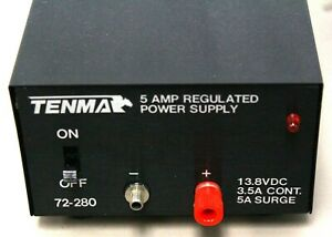 Used Ex Tenma 5 Amp Bench Top Regulated Dc Power Supply 72 280 13 8 Vdc 3 5 Amp