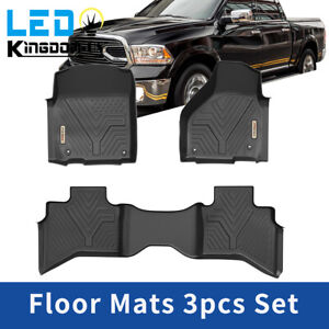 All Weather Floor Mats Liners For 2013 2018 Dodge Ram 1500 Quad Cab 1st 2nd Row