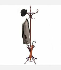 Coat Stand Earth Coat Rack Umbrella Stand Thonet Wood Painted Brown