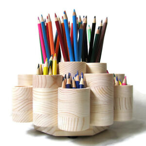 Deluxe Rotating Colored Pencil Holder Organizer Holds 260 Pencils