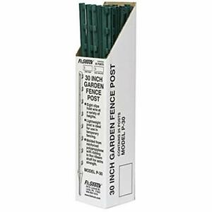 Fi shock P 30g Green Garden Post For Fence 25 Pack 30 Outdoor