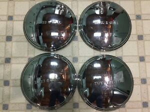 1941 50 Buick Special Century Roadmaster Super 11 Dog Dish Hubcaps Set 4