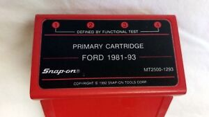 Mt2500 1293 Snap On Diagnostics Scanner Primary Cartridge Ford 1981 93
