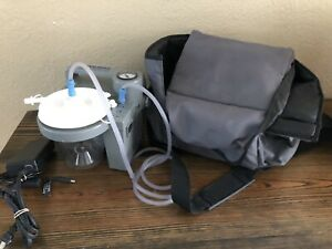 Devilbiss Homecare Suction Unit 7305p d Carry Case Charger Needs New Battery