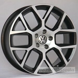 18 Laguna Style Black Machine Wheels Rims Fits Vw Volkswagen Gti Golf 2 0 Gli