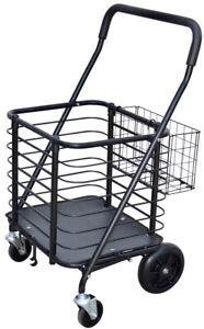 Milwaukee Shopping Cart Hold Up To 125 Lbs Heavy Duty Steel W Accessory Basket