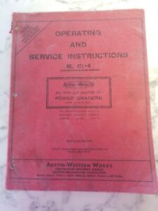 Austin Western Power Grader 471d Operating And Service Instructions