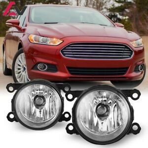 For Ford Fusion 13 16 Clear Lens Pair Bumper Fog Light Lamp Oe Replacement Dot