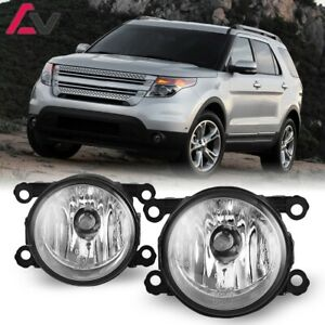 For Ford Explorer 11 15 Clear Lens Pair Bumper Fog Light Lamp Oe Replacement Dot