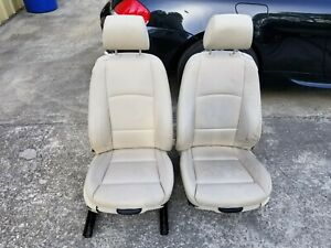 Bmw E92 07 10 328i 335i Cream Beige Powered Front Sport Seats Left Right