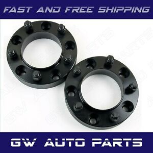 2 Black 1 25 Hub Centric Wheel Spacer 5x115 Cb 71 5mm 14x15 Fit Dodge Chrysler