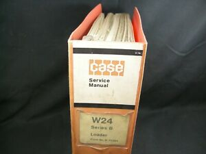 Case W24 Series B Tractor Loader Service Repair Shop Manual Book Catalog W24b