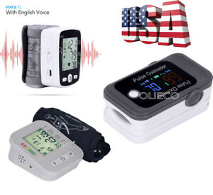 Digital Voice Blood Pressure Monitor bluetooth Pulse Oximeter Blood Oxygen Spo2