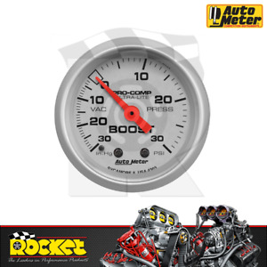 Auto Meter Pro Comp Ultra Lite 2 1 16 Boost Vac Gauge 30in Hg 30psi Au4303
