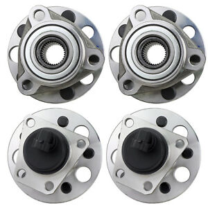 4pcs Front Rear Wheel Bearing Hub Assembly For Chevy Cavalier Pontiac Sunfire