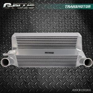 New Front Mount Intercooler Silver For 2015 2017 Ford Mustang 2 3l Ecoboost
