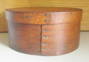 Rare Find Antique Quarter Sawed Bentwood 8 1 4 Pantry Box With Lid