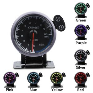 2 5 60mm Car Tachometer Gauge 10000 Rpm Tacho Meter 7 Color Led Stepper Motor