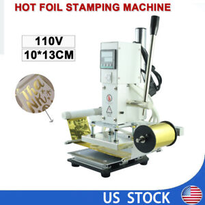 Diy Hot Foil Stamping Machine Business Card Foil Logo Embossing Leather Machine