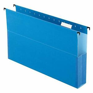 Brand New Pendaflex 59302 Hanging Box Folders 2 Expansion Blue 25 box