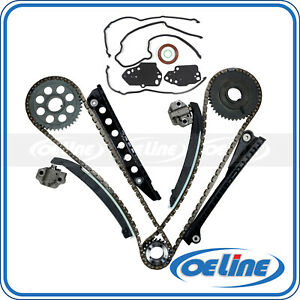 Timing Chain W Cover Gasket Kit For 04 10 Ford E 150 F 250 Navigator 5 4l L 5