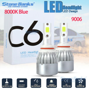 9006 Hb4 8000k Ice Blue 20000lm Led Headlight Conversion Kit High Low Beam Bulbs