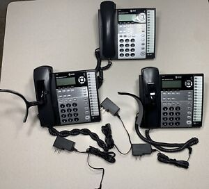 At t 1070 Small Business Phone System Lot Of 3 2 Shoulder Rests Included