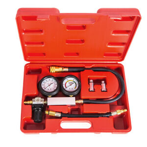 Automotive Petrol Engine Cylinder Leak Tester Compression Leakage Detector Kit