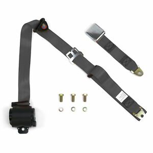 3 Point Retractable Airplane Buckle Charcoal Seat Belt 1 Belt Rv Parts Bbc