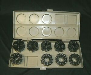 Jacobs 500 Series 9 Pc Rubber Collet Set W Case