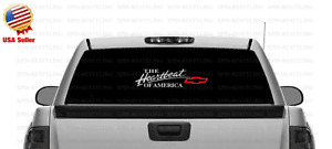 The Heartbeat Of America Chevy Decal Sticker Red Bowtie Chevrolet select Color