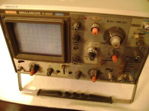 Hitachi Oscilloscope V 650f 2 Channel Portable 60 Mhz Analog Oscilloscope