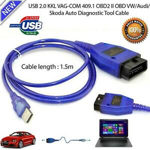 Usb Cable Kkl Vag Com 409 1 Obd2 Eobd Diagnostic Scanner Tool Vw Audi Seat