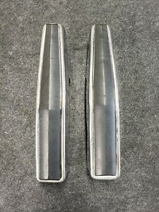 80 96 Ford Bronco F150 250 Truck Chrome Bumper Guards Bumperettes Pair