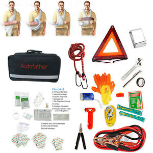 Hot Roadside Car Emergency Tools Kit Auto Safety Bag With Jump First Aid Items