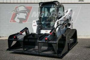 84 Demo recycling Dual Cylinder Grapple Track Loader Attachment For Cat