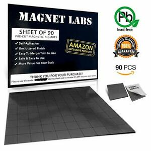 Adhesive Magnets Tape Sheet Of 90 Magnetic Squares For Crafts 20x 20x 2mm