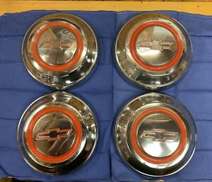 1967 Chevy C10 Dog Dish Caps Hubcaps 1 Year Only