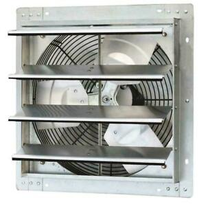 1280 Cfm Power 16 In Variable Speed Shutter Exhaust Fan Wall Mounted Commercial